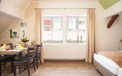 Bocksberg Appartement Wohnraum